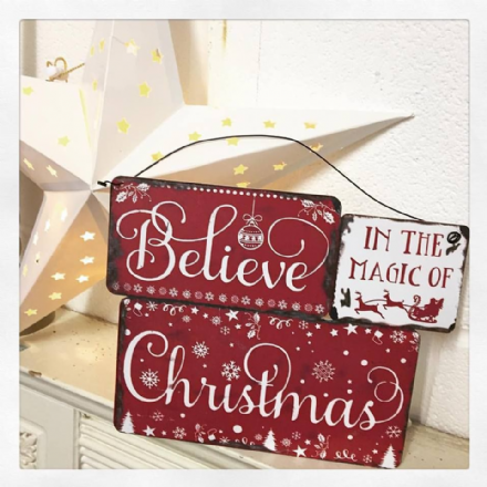 BELIEVE IN THE MAGIC OF CHRISTMAS CLUSTER PLAQUE